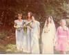 Marianne, Beth, Laurie, Mom, Grandma J. at wedding 8/19/72 at Sunrise Park in Suffield, CT