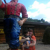 At Paul Bunyan's with Auntie Carrie.