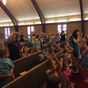 A picture from VBS.  Chase is in the second row.