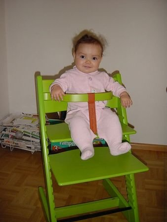 038 In her Big Girl Chair