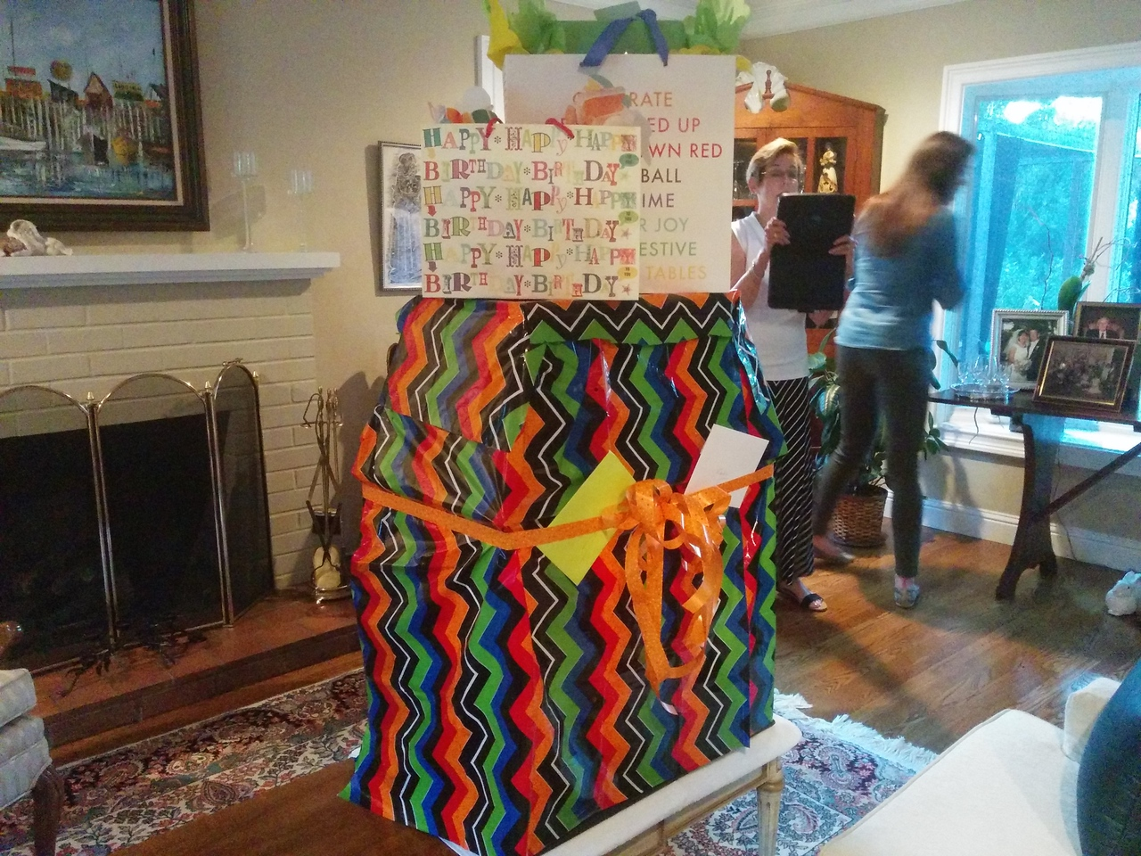 Holy smokes a tower of presents!