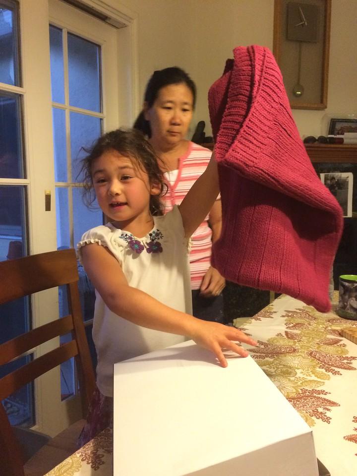 Blanket NaiNai knit for Kaitlin.