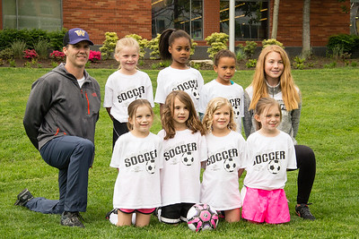 Keeley's first soccer team - B&G Club 6U Team