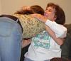 A hug for grandmom.