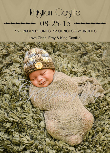 5 x 7 Birth Announcement