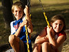 Kids & Pets : These photos are of a brother and sister having lots of fun together, along with their very cute pets.  Their activities include swinging, playing tetherball, bouncing on a trampoline, and exploring at a river.