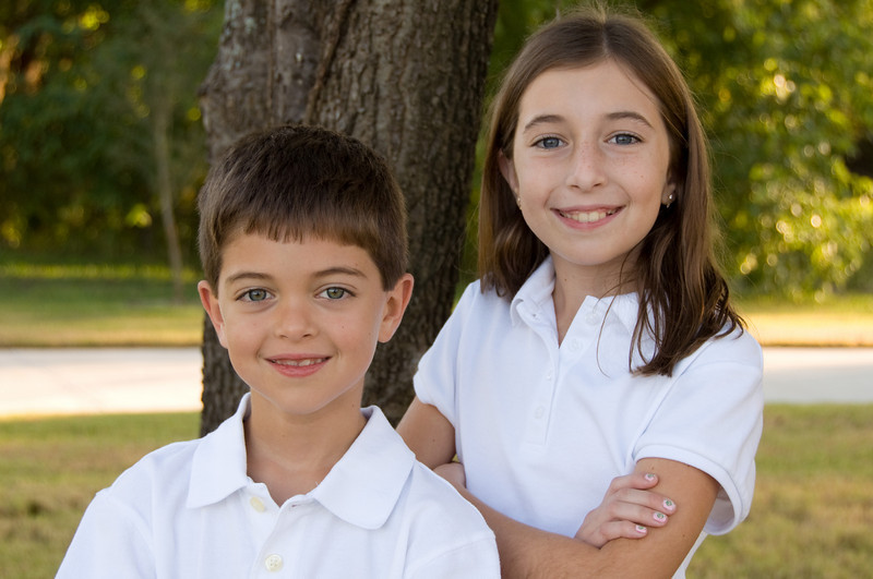 Katie(10 years old) and Kevin(7years old) - Oct. 2, 2009<br /> Taken at Waterford Park