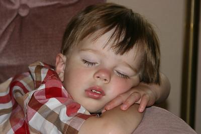Parker taking a nap.