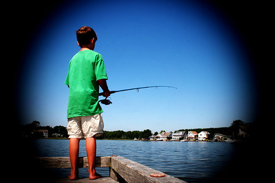 Tyler fishing in Ocean Pines, MD.