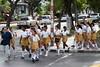 School children crossing a street in Havana, Cuba