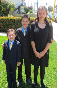 The, kids, dressed, for, Grandpa, Wally's, funeral.