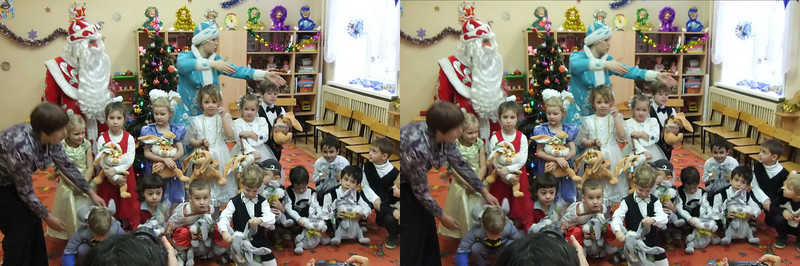 2010-12-29, Olya's New Year Utrennik at Sad 1501 (3D RL)