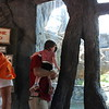 Pawpaw holds Tessa at the bear habitat at the Knoxville Zoo.