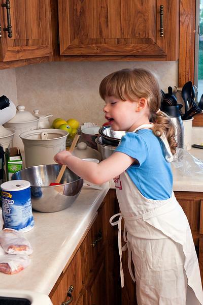 Grammy's little baker...