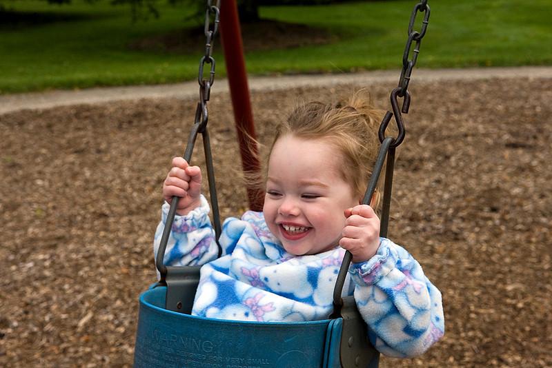 She will swing forever...