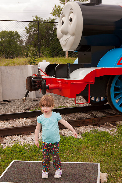 """Posing infront of Thomas for the over priced """"official"""" photos."""