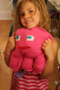 "33 unnamed cutie visiting from evansville with her ""ugly"" doll creation.  (photo permission given.)"