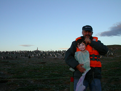 LARRY AT MAGDALENA ISLAND IN THE STRAIT OF MAGALLANES