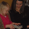 Anabelle reading to Aunt Cait