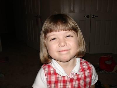 Lauren's Haircut 2-20-05