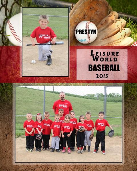Baseball 1-810 team photo Leisure World Team 2015 team photo Prestyn PROOF