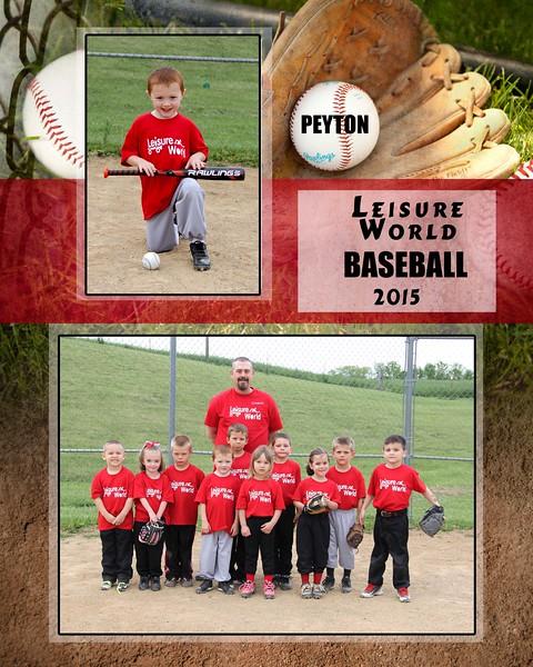 Baseball 1-810 team photo Leisure World Team 2015 team photo Peyton proof