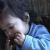 Cyane's first taste of chocolate.