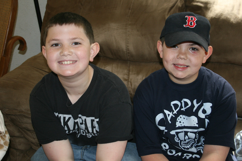 AWESOME boys! TJ, 11, and Kenny, almost 9! You boys are so very cool! AL
