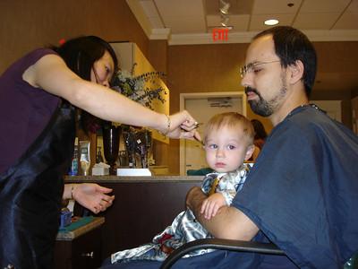 Lincoln gets a haircut