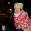 Lindsey riding a pony at the La Grange Christmas Walk