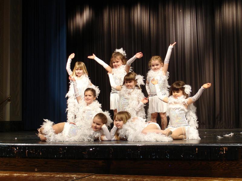 Practice for Lindsey's dance recital