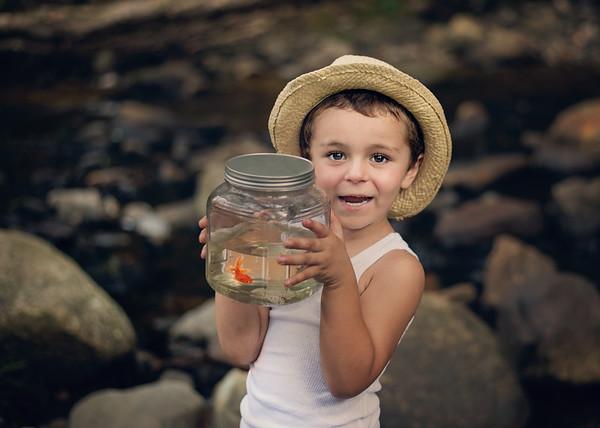 "Little J ""A Boy & His Fish"" Model Shoot 2018"