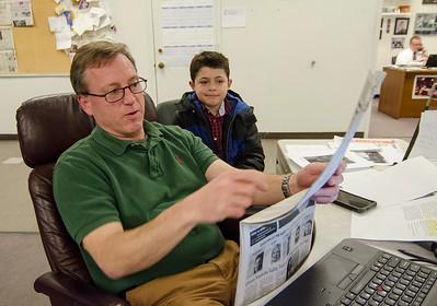 Logan Shattuck visits S & E newsroom