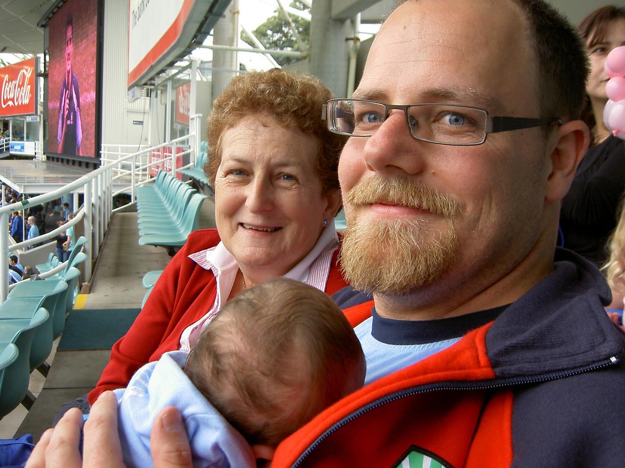 Grandma and Simon with Louis