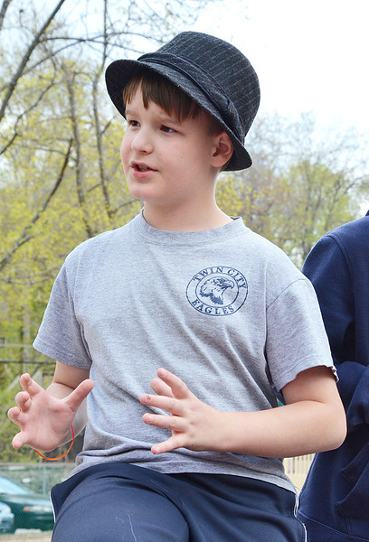 "Stephen Mayo, 11, shares his opinions on park improvements at the community meeting <br /> at Lowe Playground on Elm Street in Fitchburg. The city recently received a $200,000 ""Our Common Backyards"" grant from the state for renovations to the park. SENTINEL & ENTERPRISE / Ashley Green"