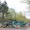 "The existing play structure at Lowe Playground on Elm Street in Fitchburg. The city recently received a $200,000 ""Our Common Backyards"" grant from the state for renovations to the park. SENTINEL & ENTERPRISE / Ashley Green"