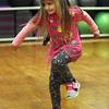 Afternoon dance party for pre-schoolers at the Greater Lowell YMCA. Averie Clark, 4, of Lowell, dancing. (SUN/Julia Malakie)
