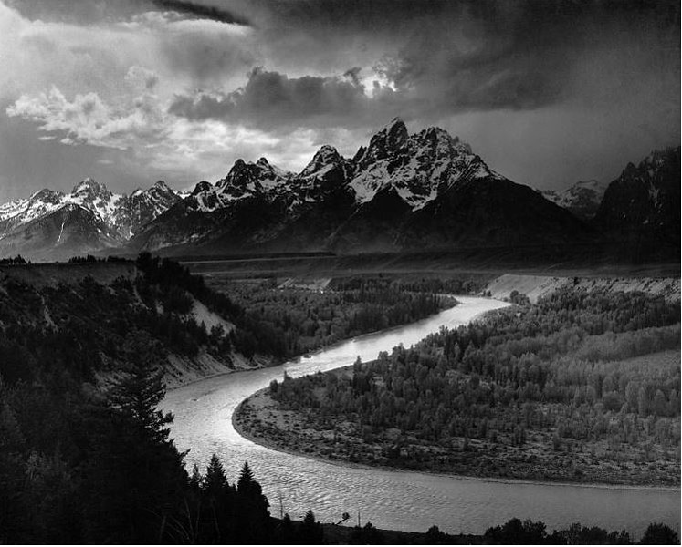 ANSEL ADAMS picture of the SNAKE RIVER