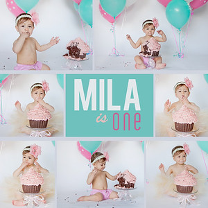 MIla is ONE and Family Portraits