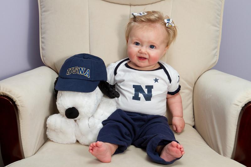22 Weeks - Mackenna is cheering for Navy on Saturday