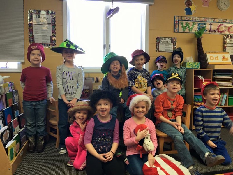 Wednesday was silly hat day at school.