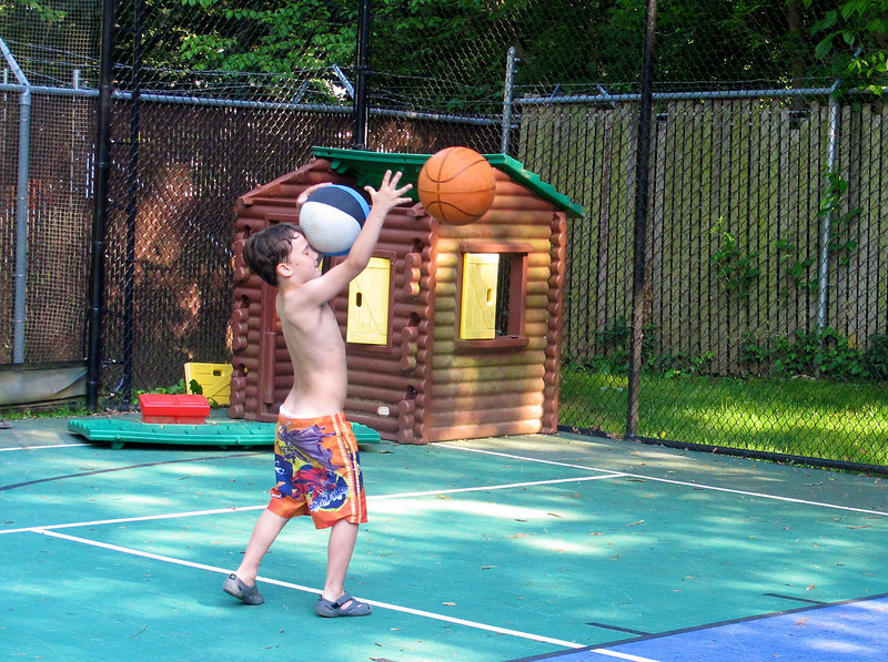 Not to mention his uncanny ball handling abilities. Take a  close look...somehow, he's got two going at once here...not sure what was happening in this shot...