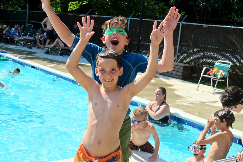This was the first summer we got to join the neighborhood pool - and the kids couldn't be happier!