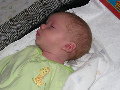 Profile of Michael sleeping