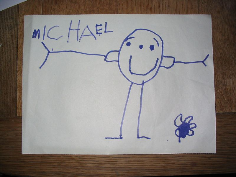 Mikeys early painting style, complete with eyebrows 2002