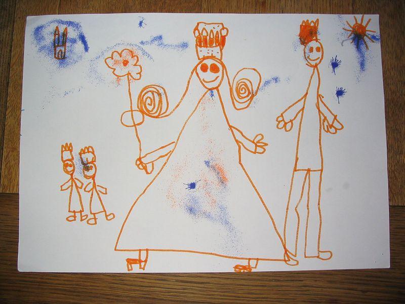 """the two boys with """"princess"""" Julia (nice high heels) and Rob November 2003"""