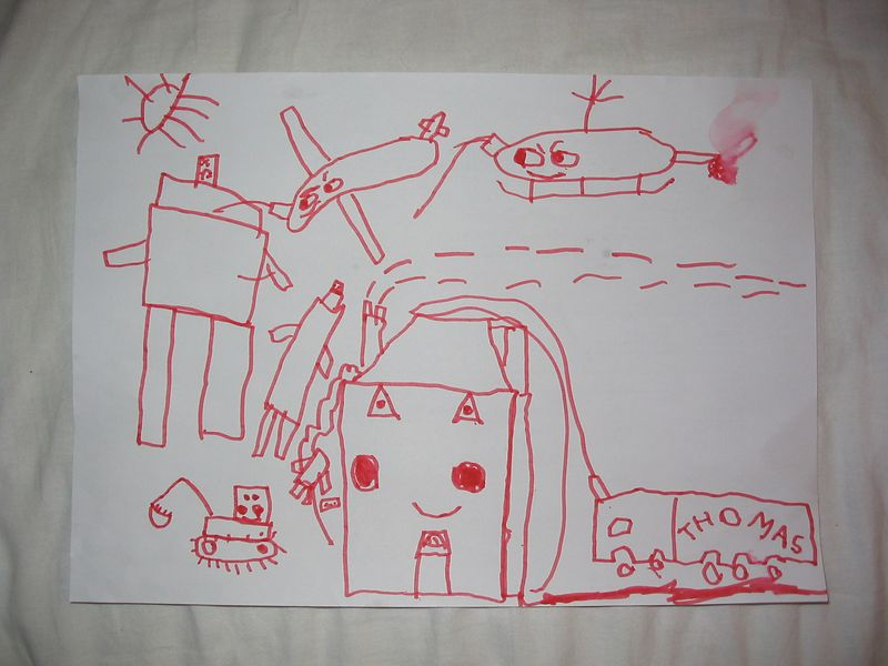 Robot being attacked by all sorts of things. Dec03