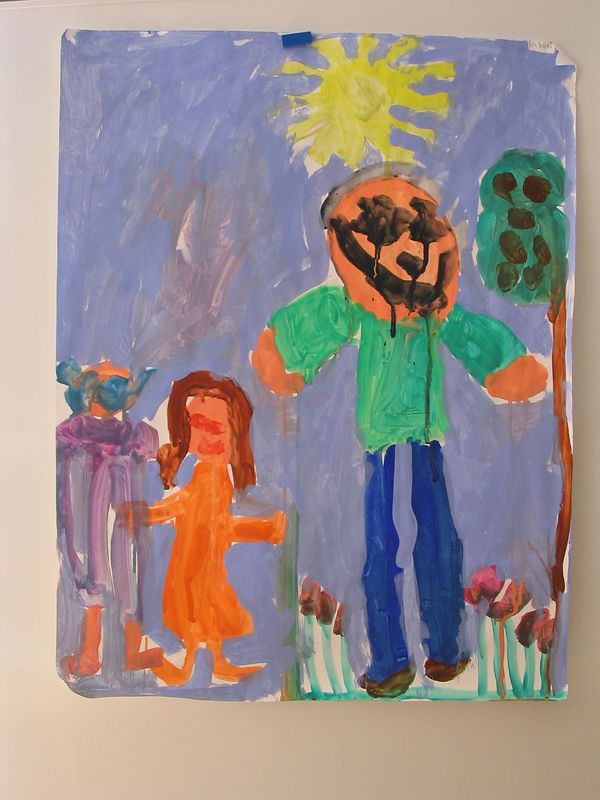 Fathers day painting by Mikey June 2003