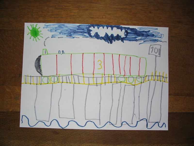 """Henry"", going across the bridge, complete with little funnels. Oct2003"