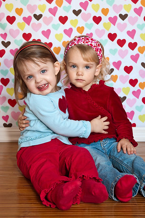 Morgan and Peyton Valentine's Day 2010